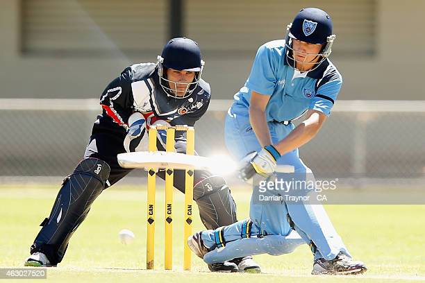 Brendan Smith of New South Wales bats against Victoria during the 20415 Imparja Cup on February 9 2015 in Alice Springs Australia