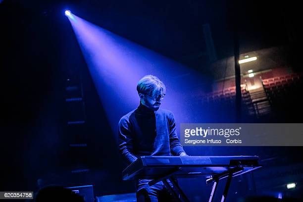 Brendan Smith of Scottish postpunk indie rock band The Twilight Sad opens the concert of English rock band The Cure on November 1 2016 in Milan Italy