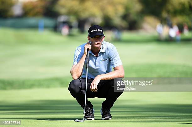 Brendan Steele lines up a putt on the sixth green during the first round of the Fryscom Open at the North Course of the Silverado Resort and Spa on...
