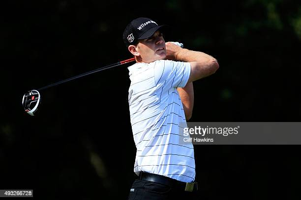 Brendan Steele plays his shot from the fifth tee during the final round of the Fryscom Open on October 18 2015 at the North Course of the Silverado...