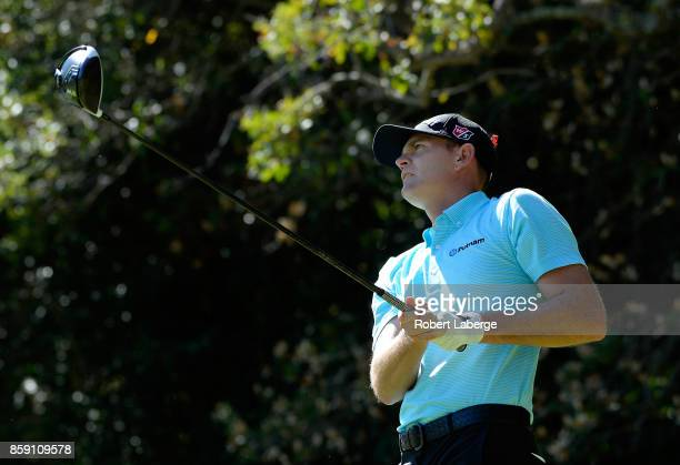 Brendan Steele plays his shot from the fifth tee during the final round of the Safeway Open at the North Course of the Silverado Resort and Spa on...