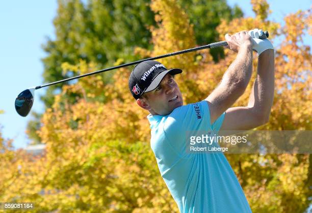 Brendan Steele plays his shot from the first tee during the final round of the Safeway Open at the North Course of the Silverado Resort and Spa on...
