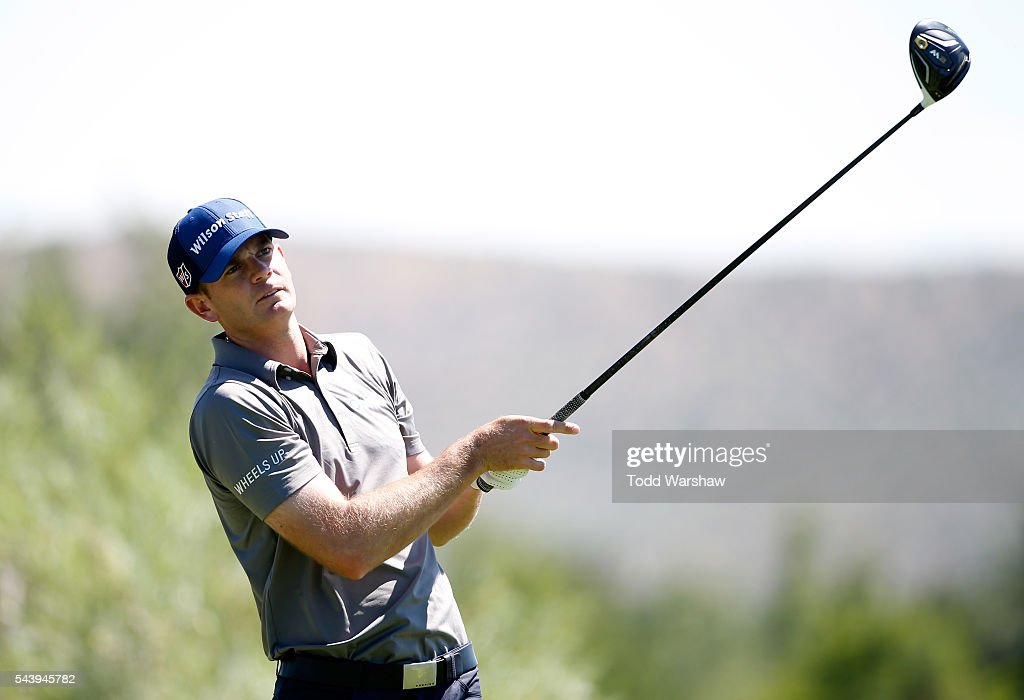 <a gi-track='captionPersonalityLinkClicked' href=/galleries/search?phrase=Brendan+Steele&family=editorial&specificpeople=4474179 ng-click='$event.stopPropagation()'>Brendan Steele</a> plays his shot from the second tee during the first round of the Barracuda Championship at the Montreux Golf and Country Club on June 30, 2016 in Reno, Nevada.
