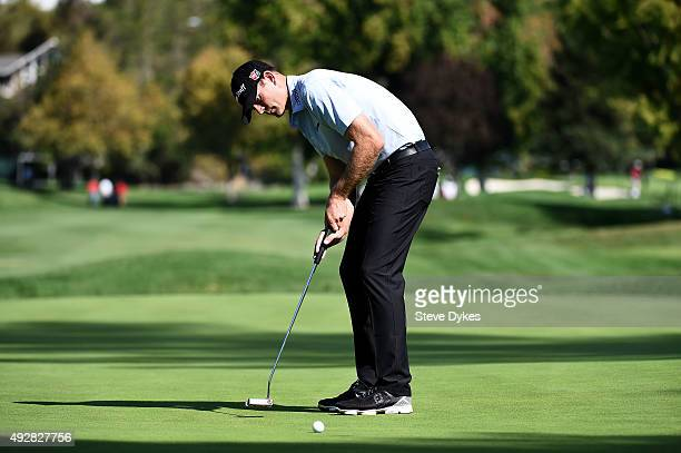 Brendan Steele putts for birdie on the sixth green during the first round of the Fryscom Open at the North Course of the Silverado Resort and Spa on...