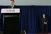 AWB Brendan Stewart from AWB at a press conference with Gordan Stewart closest to camera Heavy security was on hand 29th November 2006 THE AGE NEWS...
