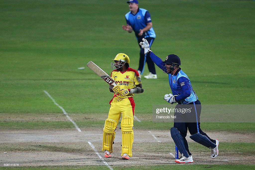 <a gi-track='captionPersonalityLinkClicked' href=/galleries/search?phrase=Brendan+Taylor&family=editorial&specificpeople=798976 ng-click='$event.stopPropagation()'>Brendan Taylor</a> of Leo Lions successfully appeals for the wicket of <a gi-track='captionPersonalityLinkClicked' href=/galleries/search?phrase=Mahela+Jayawardene&family=editorial&specificpeople=213707 ng-click='$event.stopPropagation()'>Mahela Jayawardene</a> of Sagittarius Strikers during the Oxigen Masters Champions League match between Leo Lions and Sagittarius Strikers on February 6, 2016 in Sharjah, United Arab Emirates.