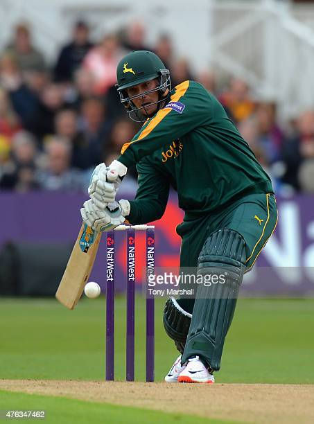Brendan Taylor of Nottingham Outlaws during the NatWest T20 Blast between Nottingham Outlaws and Durham Jets at Trent Bridge on May 31 2015 in...