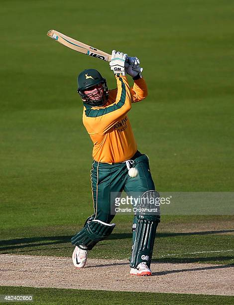 Brendan Taylor of Nottinghamshire hits out during the Royal London OneDay Cup match between Sussex and Nottinghamshire at The BrightonandHoveJobscom...
