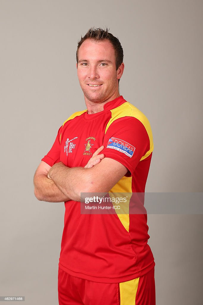 <a gi-track='captionPersonalityLinkClicked' href=/galleries/search?phrase=Brendan+Taylor&family=editorial&specificpeople=798976 ng-click='$event.stopPropagation()'>Brendan Taylor</a> poses during the Zimbabwe 2015 ICC Cricket World Cup Headshots Session at the Rydges Latimer on February 8, 2015 in Christchurch, New Zealand.