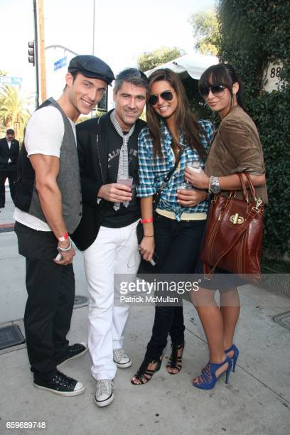 Brendan Trentham Corey Lane Catarina DeBarros and Katrina Caro attend BRING YOUR HEART TO OUR HOUSE JOHN VARVATOS partners with CONVERSE for the 7th...