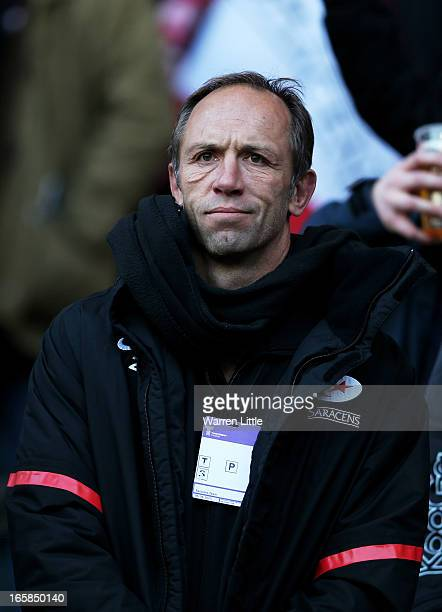 Brendan Venter the Technical Director of Saracens looks on during the Heineken Cup quarter final match between Saracens and Ulster at Twickenham...