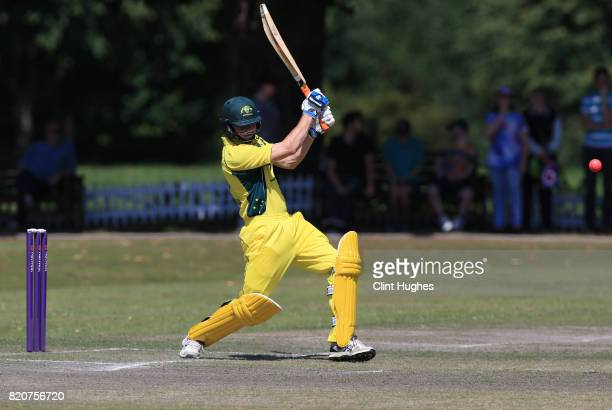 Brendan Westlake of Australia bats during the T20 INAS TriSeries against England at Toft Cricket Club on July 18 2017 in Knutsford England