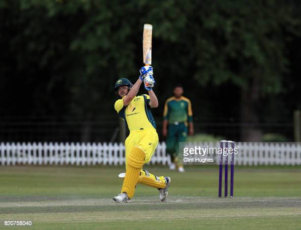 Brendan Westlake of Australia bats during the T20 INAS TriSeries against South Africa at Toft Cricket Club on July 18 2017 in Knutsford England