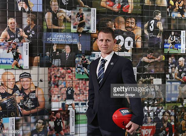Brendon Bolton poses after being announced as Carlton Football Club Senior Coach at Ikon Park on August 25 2015 in Melbourne Australia