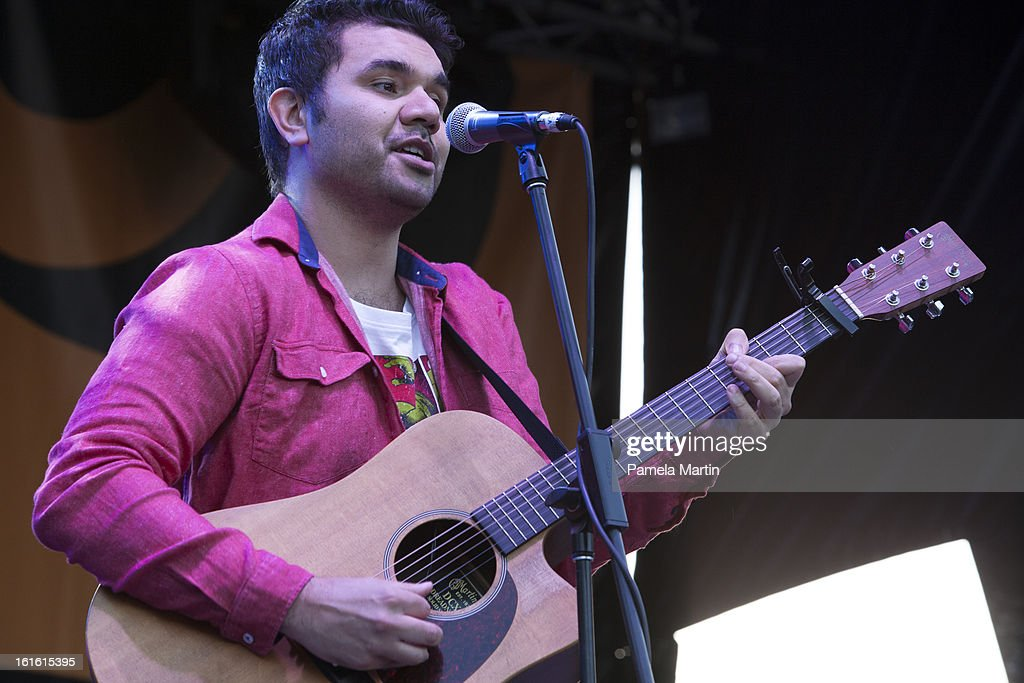 Brendon Boney from Microwave Jenny performs live on stage during 'The Apology - Five Years On - Heal our Past, Build our Future' at Federation Mall on February 13, 2013 in Canberra, Australia.