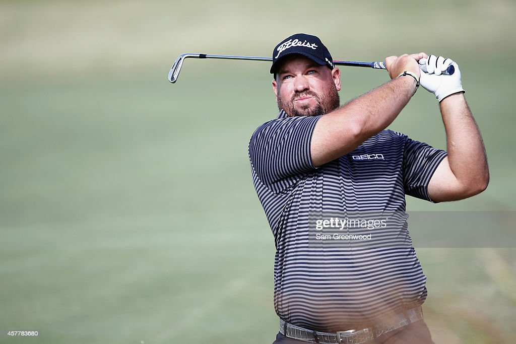 Brendon de Jonge of Zimbabwe hits a shot on the 7th hole during the second round of The McGladrey Classic at Sea Island's Seaside Course on October...