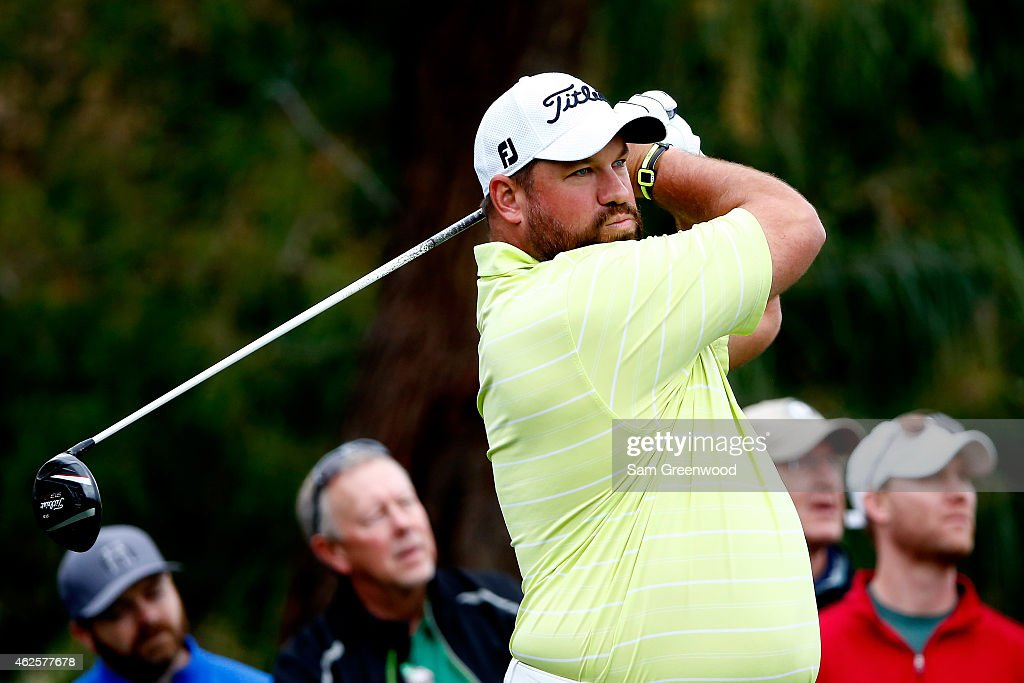 Brendon de Jonge of Zimbabwe hits a tee shot on the 2nd hole during the third round of the Waste Management Phoenix Open at TPC Scottsdale on January...