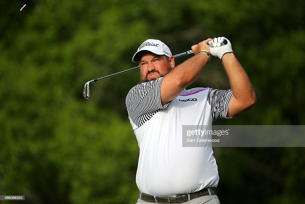 Brendon de Jonge of Zimbabwe hits off the 15th tee during the second round of the Valspar Championship at Innisbrook Resort Copperhead Course on...