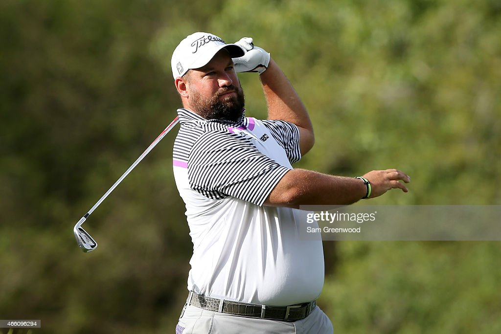Brendon de Jonge of Zimbabwe hits off the 17th tee during the second round of the Valspar Championship at Innisbrook Resort Copperhead Course on...