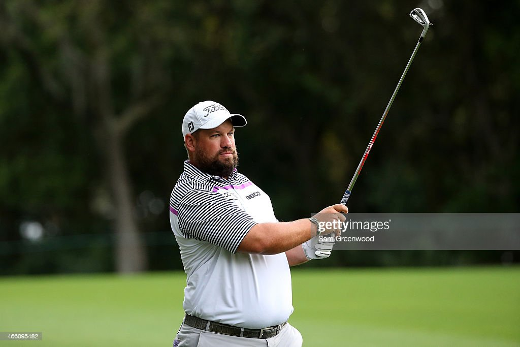 Brendon de Jonge of Zimbabwe plays a shot on the 11th hole during the second round of the Valspar Championship at Innisbrook Resort Copperhead Course...