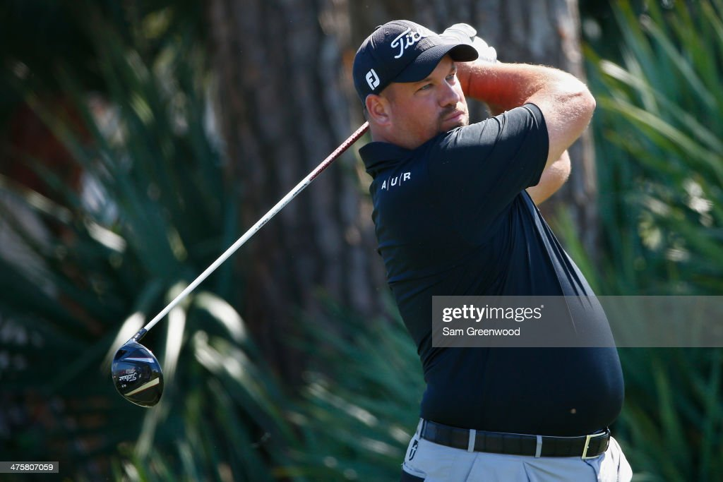 Brendon de Jonge of Zimbabwe plays a shot on the second hole during the third round of The Honda Classic at PGA National Resort and Spa on March 1...