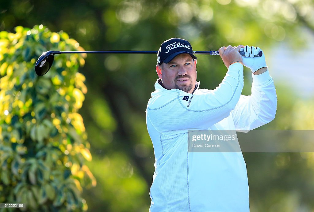 Brendon de Jonge of Zimbabwe plays his tee shot at the par 4 14th hole during the first round of the 2016 Honda Classic held on the PGA National...