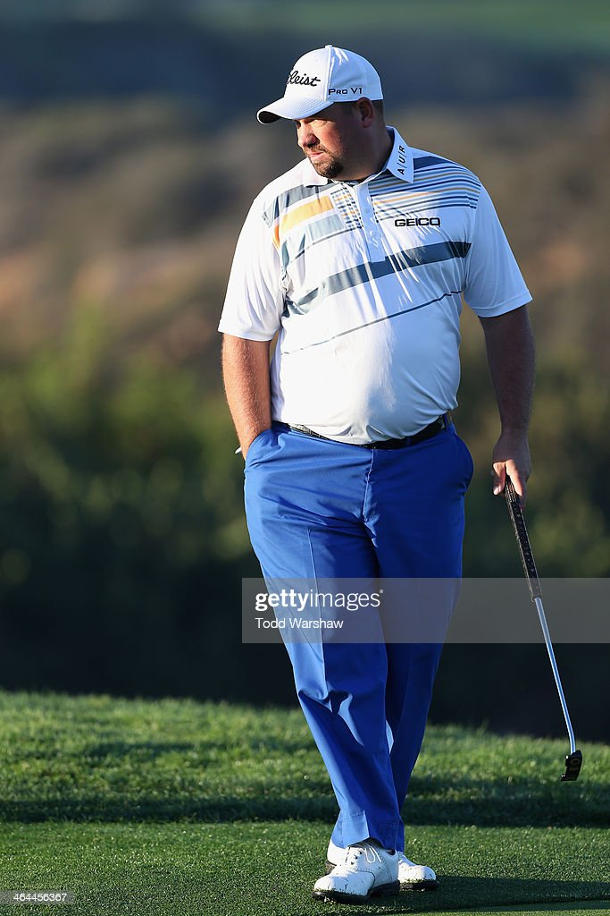 Brendon de Jonge of Zimbabwe plays the 11th hole of the North Course during the Zurich ProAm at Torrey Pines Golf Course on January 22 2014 in La...