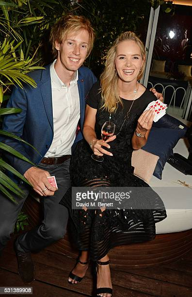 Brendon Hartley and Sarah Wilson attend the Chopard x Annabel's Cannes party on May 14 2016 in Cannes France