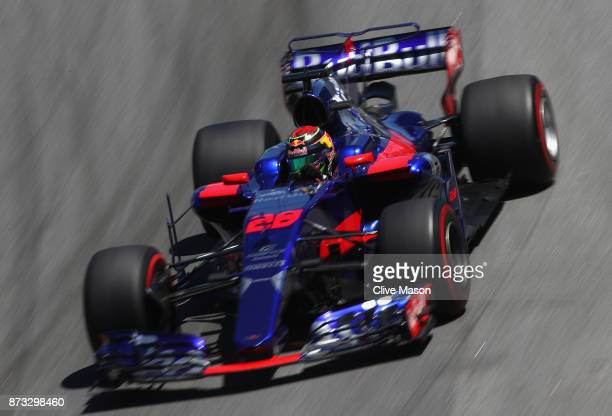 Brendon Hartley of New Zealand driving the Scuderia Toro Rosso STR12 on track during the Formula One Grand Prix of Brazil at Autodromo Jose Carlos...