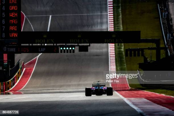 Brendon Hartley of Scuderia Toro Rosso and New Zealand during qualifying for the United States Formula One Grand Prix at Circuit of The Americas on...