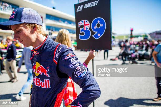 Brendon Hartley of Scuderia Toro Rosso and New Zealand during the United States Formula One Grand Prix at Circuit of The Americas on October 22 2017...