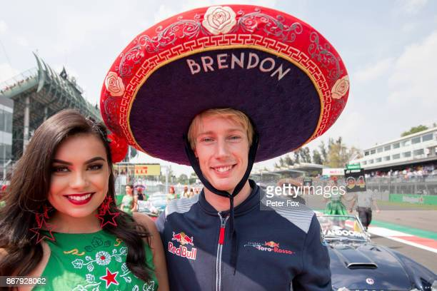 Brendon Hartley of Scuderia Toro Rosso and New Zealand during the Formula One Grand Prix of Mexico at Autodromo Hermanos Rodriguez on October 29 2017...