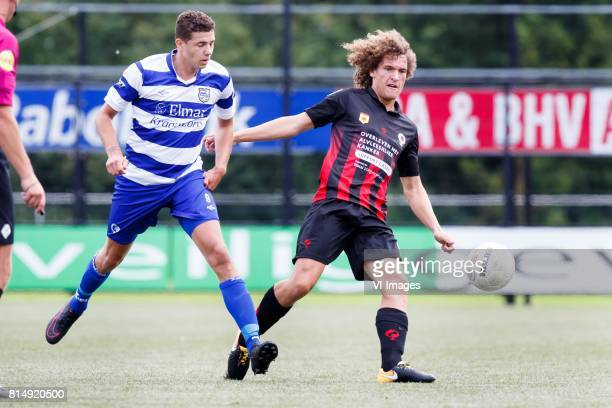 Brendon Koenemann of XerxesDZB Wout Faes of Excelsior during the friendly match between XerxesDZB and Excelsior Rotterdam at Sportpark Faas Wilkes on...