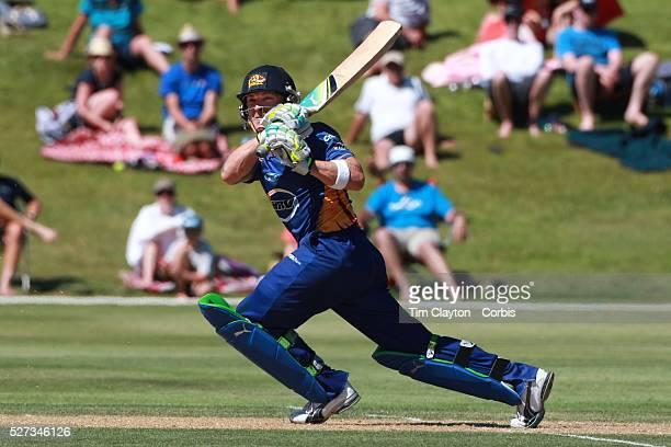 Brendon McCullum batting during the Otago Voltz V Wellington Firebirds HRV Cup match at the Queenstown Events Centre Queenstown New Zealand 31st...