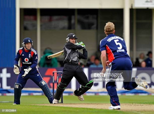 Brendon McCullum batting for New Zealand during his innings of 60 not out in the NatWest Series One Day International between England and New Zealand...