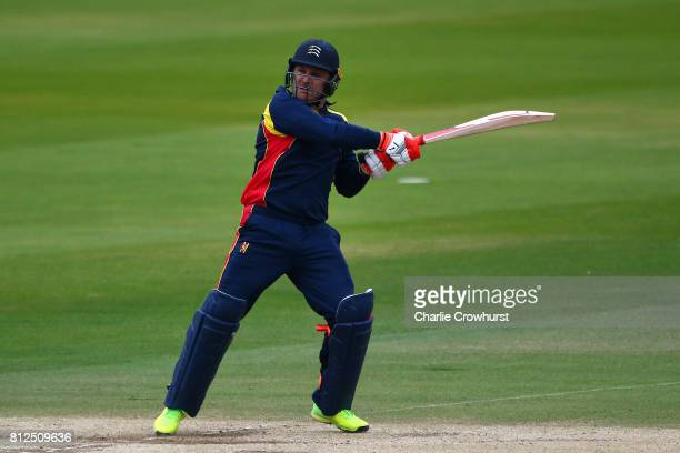 Brendon McCullum of MCC hits out during the MCC v Afghanistan cricket match at Lord's Cricket Ground on July 11 2017 in London England