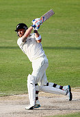 Brendon McCullum of Nerw Zealand bats during day two of the third test between Pakistan and New Zealand at Sharjah Stadium on November 28 2014 in...