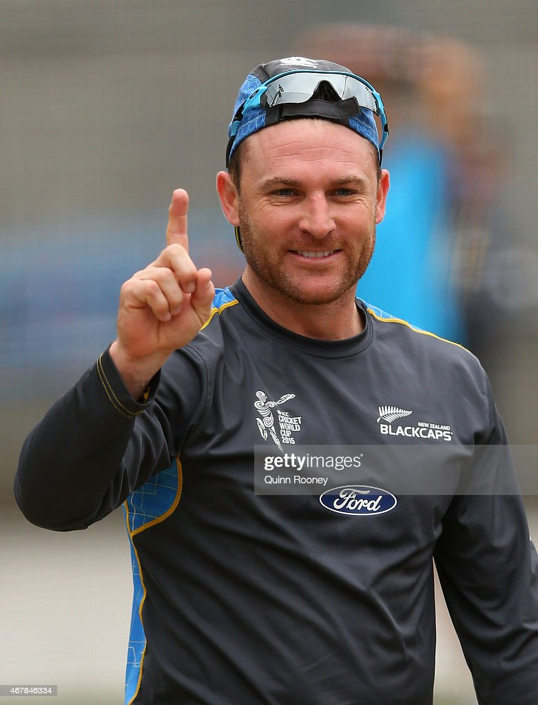 <a gi-track='captionPersonalityLinkClicked' href=/galleries/search?phrase=Brendon+McCullum&family=editorial&specificpeople=208154 ng-click='$event.stopPropagation()'>Brendon McCullum</a> of New Zealand appeals for a wicket during a New Zealand nets session at Melbourne Cricket Ground on March 28, 2015 in Melbourne, Australia.