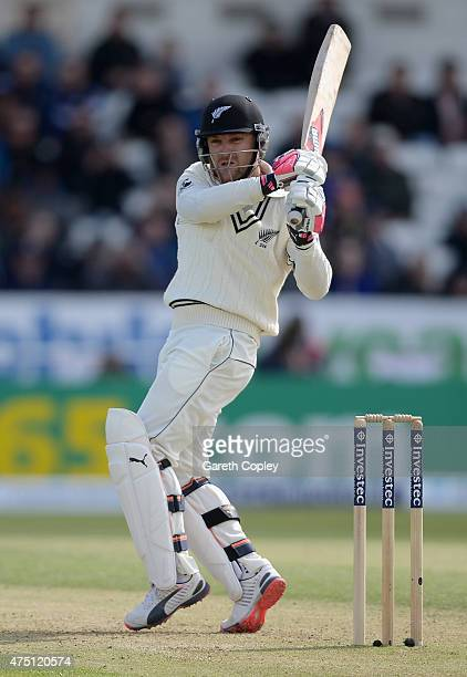Brendon McCullum of New Zealand bats during day one of 2nd Investec Test match between England and New Zealand at Headingley on May 29 2014 in Leeds...