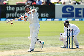 Brendon McCullum of New Zealand bats during day one of the First Test match between New Zealand and Sri Lanka at Hagley Oval on December 26 2014 in...