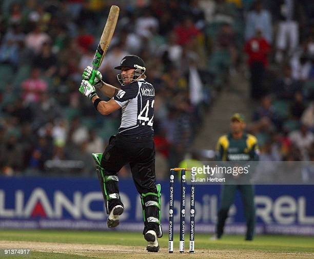 Brendon McCullum of New Zealand bats during The 2nd ICC Champions Trophy Semi Final between New Zealand and Pakistan at Wanderers Stadium on October...
