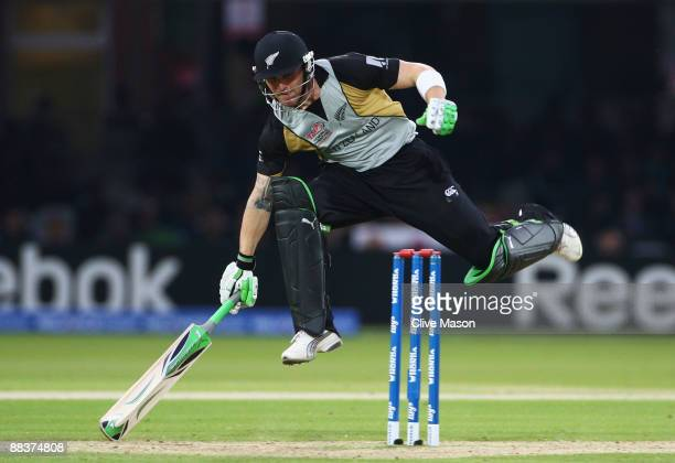 Brendon McCullum of New Zealand jumps to avoid being hit by the ball during the ICC World Twenty20 Group D match between New Zealand and South Africa...