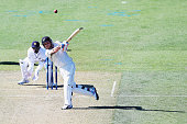 Brendon McCullum of New Zealand pulls the ball away for six runs in 2014 during the test match between New Zealand and Sri Lanka at Hagley Oval on...