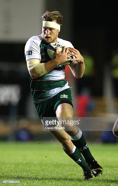 Brendon O'Connor of Leicester runs with the ball during the Eurpean Rugby Champions Cup match between Leicester Tigers and Stade Francais at Welford...