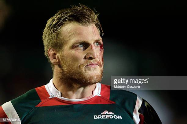 Brendon O'Connor of Leicester Tigers looks on following the European Rugby Champions Cup game between Leicester Tigers and Racing 92 at Welford Road...