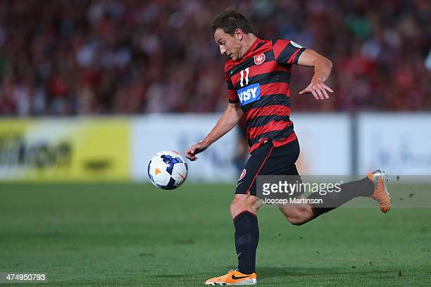 Brendon Santalab of the Wanderers controls the ball during the AFC Asian Champions League match between the Western Sydney Wanderers and Ulsan...
