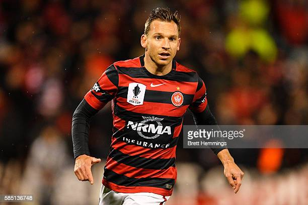 Brendon Santalab of the Wanderers looks on during the FFA Cup Round of 32 match between the Western Sydney Wanderers and the Wellington Phoenix at...