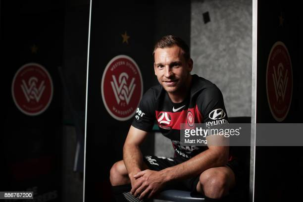 Brendon Santalab of the Wanderers poses during a joint Sydney FC and Western Sydney Wanderers ALeague media opportunity at ANZ Stadium on December 6...