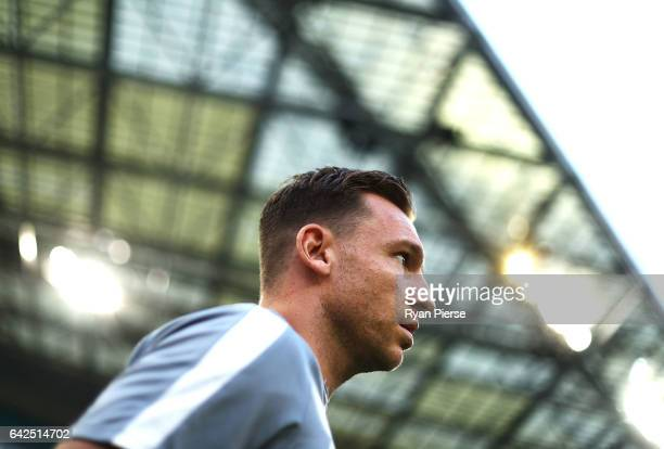 Brendon Santalab of the Wanderers walks out onto the pitch during the round 20 ALeague match between the Western Sydney Wanderers and Sydney FC at...