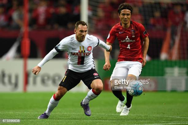 Brendon Santalab of Western Sydney in action during the AFC Champions League Group F match between Urawa Red Diamonds and Western Sydney at Saitama...